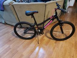 "Mongoose Excursion 24"" Girls' Mountain Bike Black NEW"