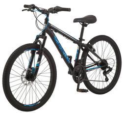 """Mongoose Excursion Boys Mountain Bike, 24"""", 21 Speed - Black"""