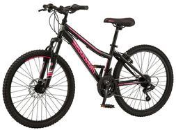 "🔥 Mongoose Excursion Mountain Bike 24"" Inch 21 Speed Blac"
