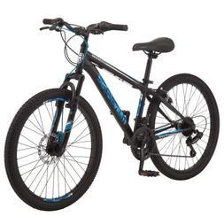 "Mongoose Excursion New Mountain Bike, 24"" 21 Speed - Black/B"