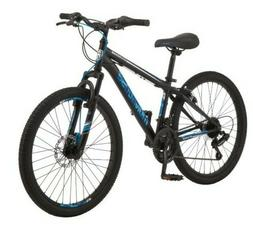 """Mongoose Excursion New Mountain Bike, 24"""", 21 Speed - Black/"""
