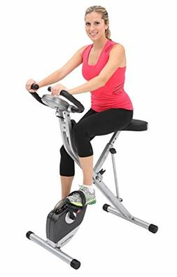 Exerpeutic Folding Magnetic Upright Bike with Pulse , Exerci