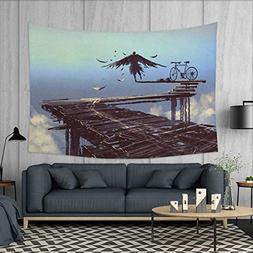 Anniutwo Fantasy World Beach Throw BlanketSurreal Art Print