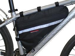 Bushwhacker Fargo Black Bicycle Frame Bag Cycling Pack Seat