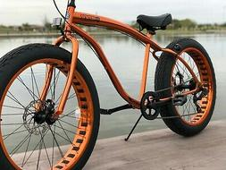 Fat Tire Beach Cruiser Bike 🌴 CUSTOM COPPER - 7 SPEED-CUT
