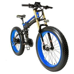 LANKELEISI 26 Inch Fat Tire Folding Electric Bicycle 48V10Ah
