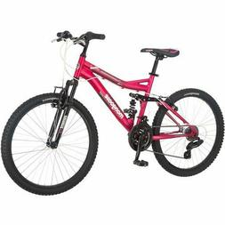 FEMALE MOUNTAIN BIKE 21 SPEED PINK MONGOOSE GIRLS WOMENS BIC