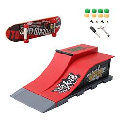Feamos Finger Skateboard with Skate Park Ramp Parts for Tech
