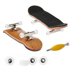 Feamos Finger Skateboard Wooden Deck Sport Games for Kids Gi