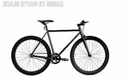Fixed Gear Bike Bicycle F2 Steel Black Men Women fixie city