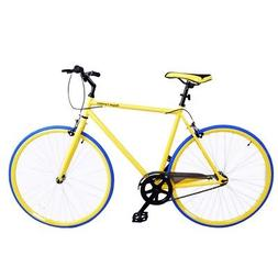 Royal London Fixie Fixed Gear Single Speed Bike - Yellow/Blu
