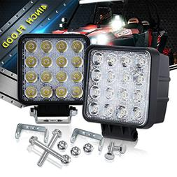 Flood lights on front rear bumper 4 IN Pods Cube Square led