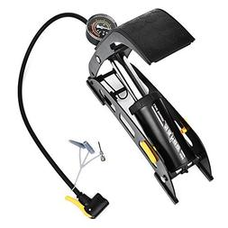 WOTOW Floor Foot Bike Air Pump, Fast Inflating Portable Bicy