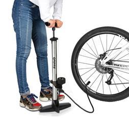Floor Pump Bike Pump with Gauge Bicycle Tire Pump Road Mount
