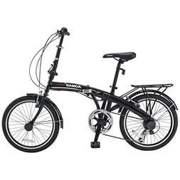 Murtisol Folding Bike 20'' Hybrid Bicycle Reinforced Fra