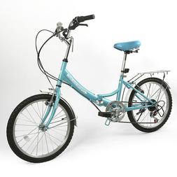 ZOYO Folding Bike 20'' Folding Bicycle Kids/Adult 6Speed Fol