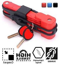SG Dreamz Folding Bike Lock - Anti Theft Heavy Duty High Sec