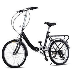 Yuanne Folding Bike 20 Inch 7 Speed Loop Steel Frame Bicycle
