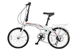 "Stowabike 20"" Folding City V3 Compact Foldable Bike – 6 Sp"