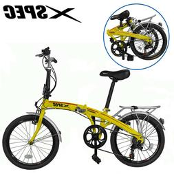 "Xspec 20"" 7 Speed Folding Compact Bike Bicycle Urban Commute"