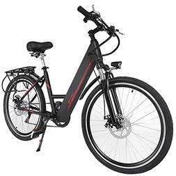 Oanon Folding Electric Bicycle 6-Speed E-Bike with Handlebar