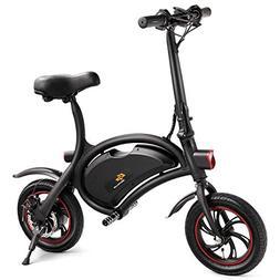 Goplus Folding Electric Bike Portable E-Bike with 12.5 Mile