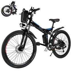 Kaluo Folding Electric Mountain Bike, 26 Inch Wheel, 36V 250