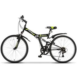"ORKAN 26"" Folding Mountain Bike Foldable Hybrid Bike 7 Speed"