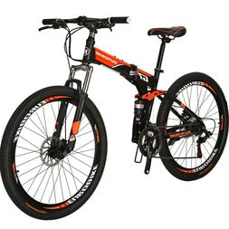 folding mountain bike full suspension 27 5