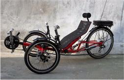 folding recumbent trike bicycle bikes with lithium