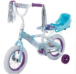 Frozen 12-Inch Girls EZ Build Bike with Sleigh Doll Carrier