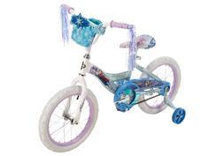 """Frozen 16"""" EZ Build Girls Bike Front Doll Carrier, White/Blu"""
