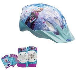 Disney Frozen Girls Skate / Bike Helmet, Pads & Gloves - 7 P