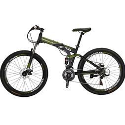 """Full Suspension Folding Mountain Bike 27.5"""" 21 Speed Bicycle"""