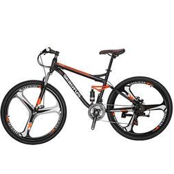 """Full Suspension Mountain Bike 27.5"""" Shimano 21 Speed Men's B"""