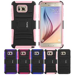 Galaxy Note 5 Stand Case, HLCT Rugged Shock Proof Dual-Layer