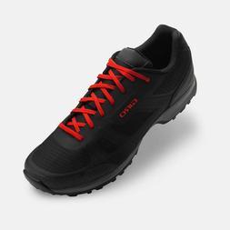 Giro Gauge Shoes Black/Bright Red Bike Cycling MTB - Indoor