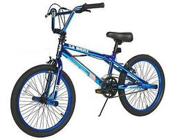 "Genesis 20"" Boys Blue Krome 2.0 BMX Bike Front Rear Pegs Fro"