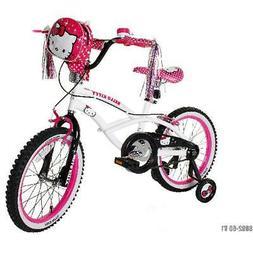 "Hello Kitty Girls Bicycle Training Wheels BMX Bike Gift 18/"" White//Black//Pink"