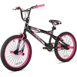 "KENT GIRL'S 20"" TROUBLE BMX BIKE, BLACK/PINK *DISTRESSED PAC"