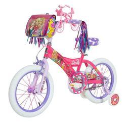 Girls Barbie 16-Inch Bike with Training Wheels