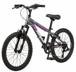 Mongoose Girls Bicycle 20 Inch Kids Bike Children 7 Speed Fr