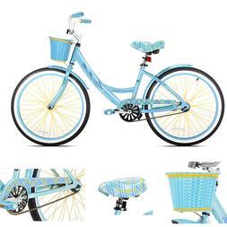Girls Cruiser Bike 24 Inch Teen Bicycle Adjustable Seat Ligh