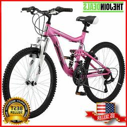 Girls Pink Mountain Bike 24 Mongoose Ledge 2.1,Bicycle