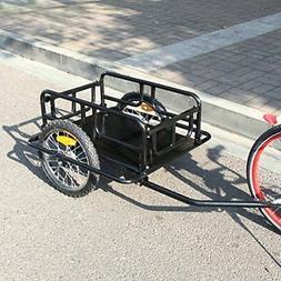 Heavy Duty Foldable Bike Trailer Cargo Utility Luggage Bicyc