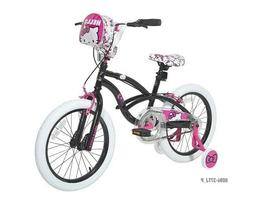 "DYNACRAFT HELLO KITTY 18"" GIRLS BIKE, BLACK *DISTRESSED PACK"