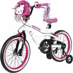"Dynacraft Hello Kitty Girls BMX Street Bike 16 18"", White"