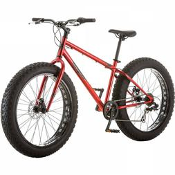 "26"" Mongoose Hitch Men's All Terrain Fat Tire Bike Red Seven"