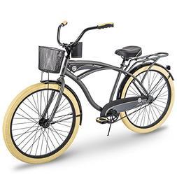 Huffy Cruiser Bike Mens, Holbrook 26 inch, Charcoal & Green