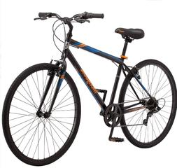 Mongoose Hotshot Hybrid Bike Commuter Fitness Mens Bicycle 7